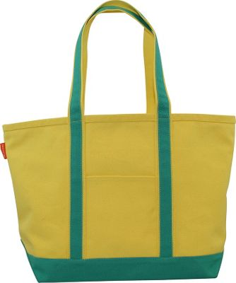 CB Station Boat Tote Medium Yellow/Jade - CB Station Fabric Handbags