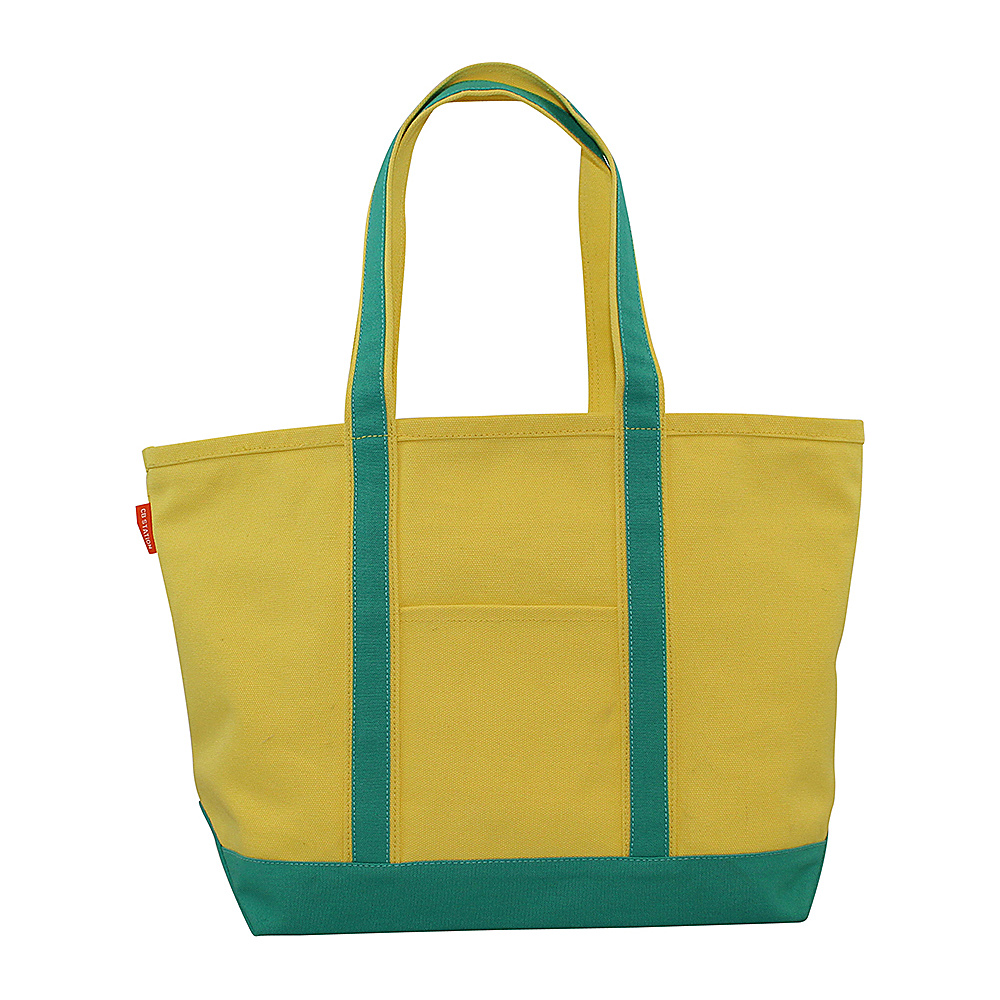 CB Station Boat Tote Medium Yellow Jade CB Station Fabric Handbags