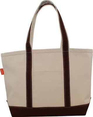 CB Station Boat Tote Medium Brown - CB Station Fabric Handbags