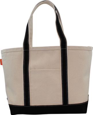 CB Station Boat Tote Medium Natural/Black - CB Station Fabric Handbags