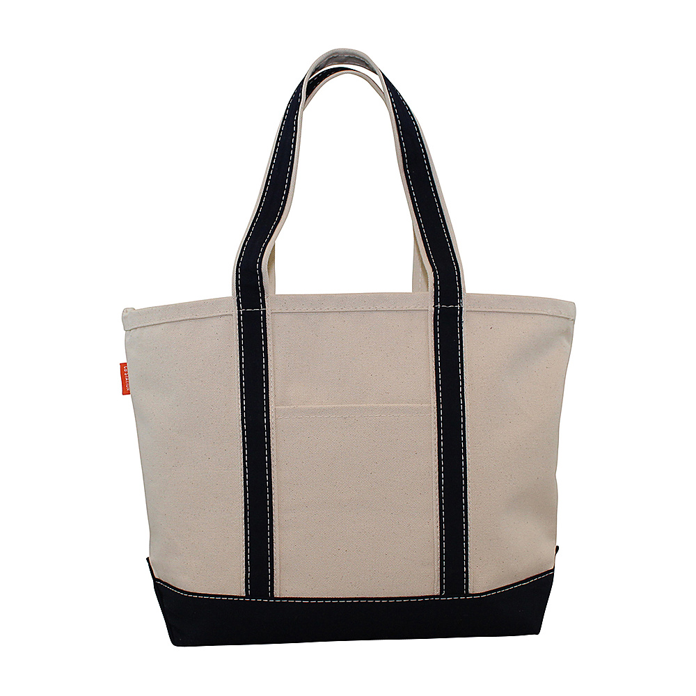 CB Station Boat Tote Medium Navy CB Station Fabric Handbags