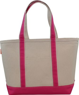 CB Station Boat Tote Medium Hot Pink - CB Station Fabric Handbags