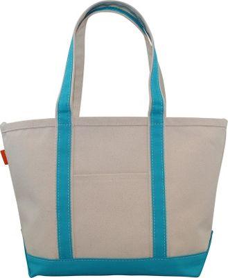 CB Station Boat Tote Medium Turquoise - CB Station Fabric Handbags