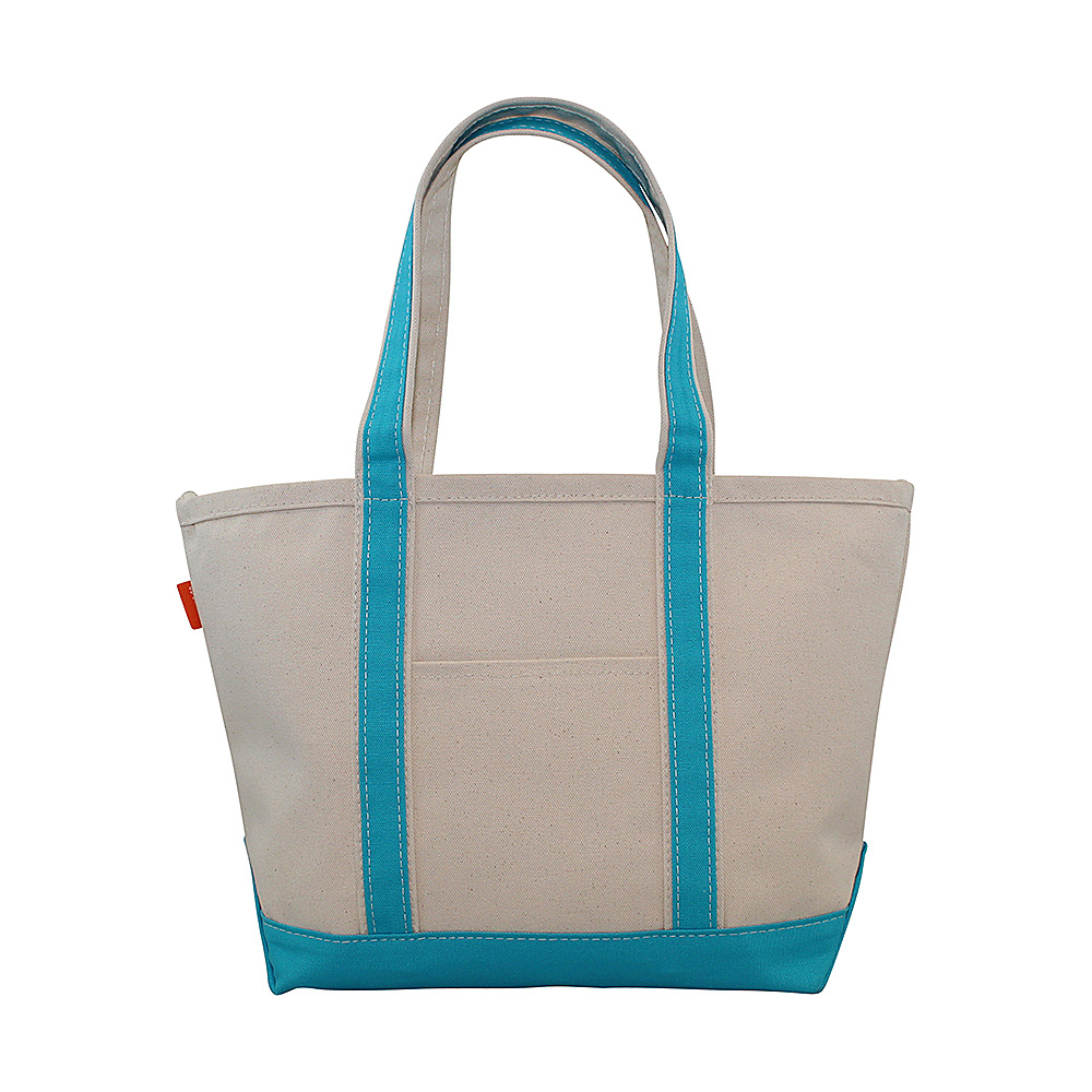 CB Station Boat Tote Medium Turquoise CB Station Fabric Handbags