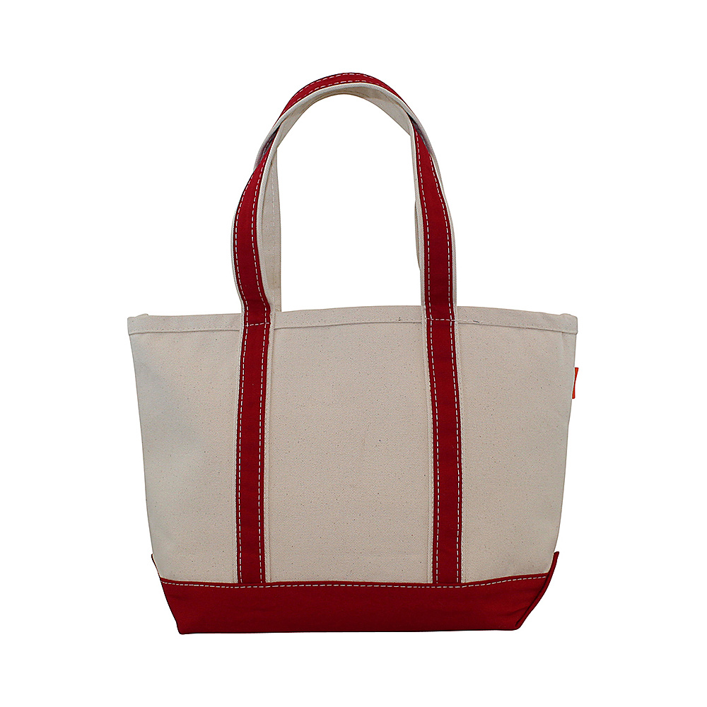 CB Station Boat Tote Medium Red CB Station Fabric Handbags
