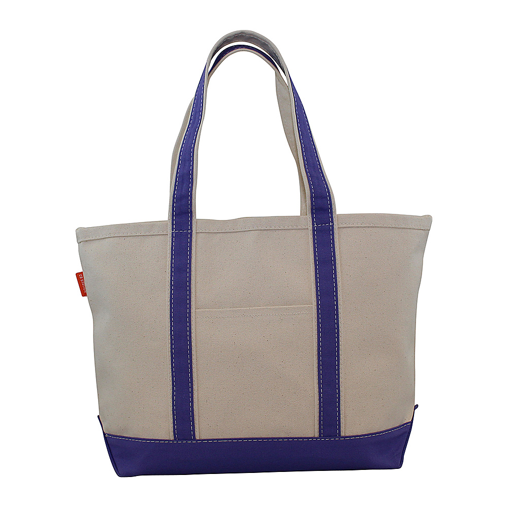 CB Station Boat Tote Medium Violet CB Station Fabric Handbags