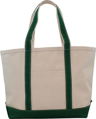 CB Station Boat Tote Medium Emerald - CB Station Fabric Handbags