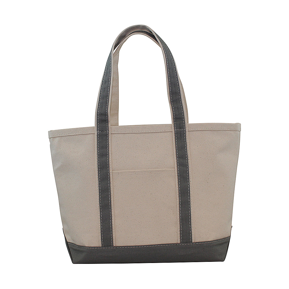 CB Station Boat Tote Medium Gray CB Station Fabric Handbags