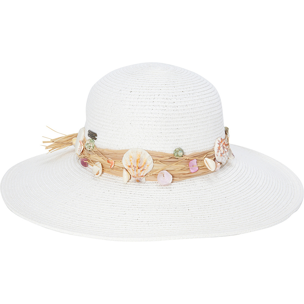 Sun N Sand Seashell Hat One Size - White - Sun N Sand Hats/Gloves/Scarves - Fashion Accessories, Hats/Gloves/Scarves