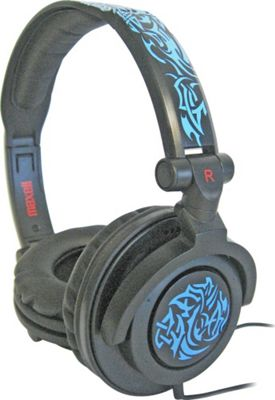 Maxell AMPlified Tribal Glow Heavy Bass Headphone Black/Blue - Maxell Headphones & Speakers