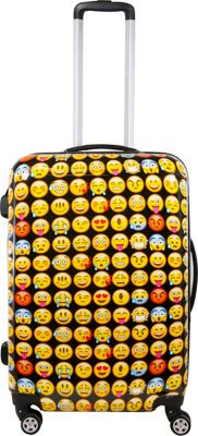 ful Emoji Hardside 28in Spinner Upright Luggage Yellow - ful Hardside Checked
