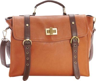 nu G Belted Oversized Satchel Brown - nu G Manmade Handbags