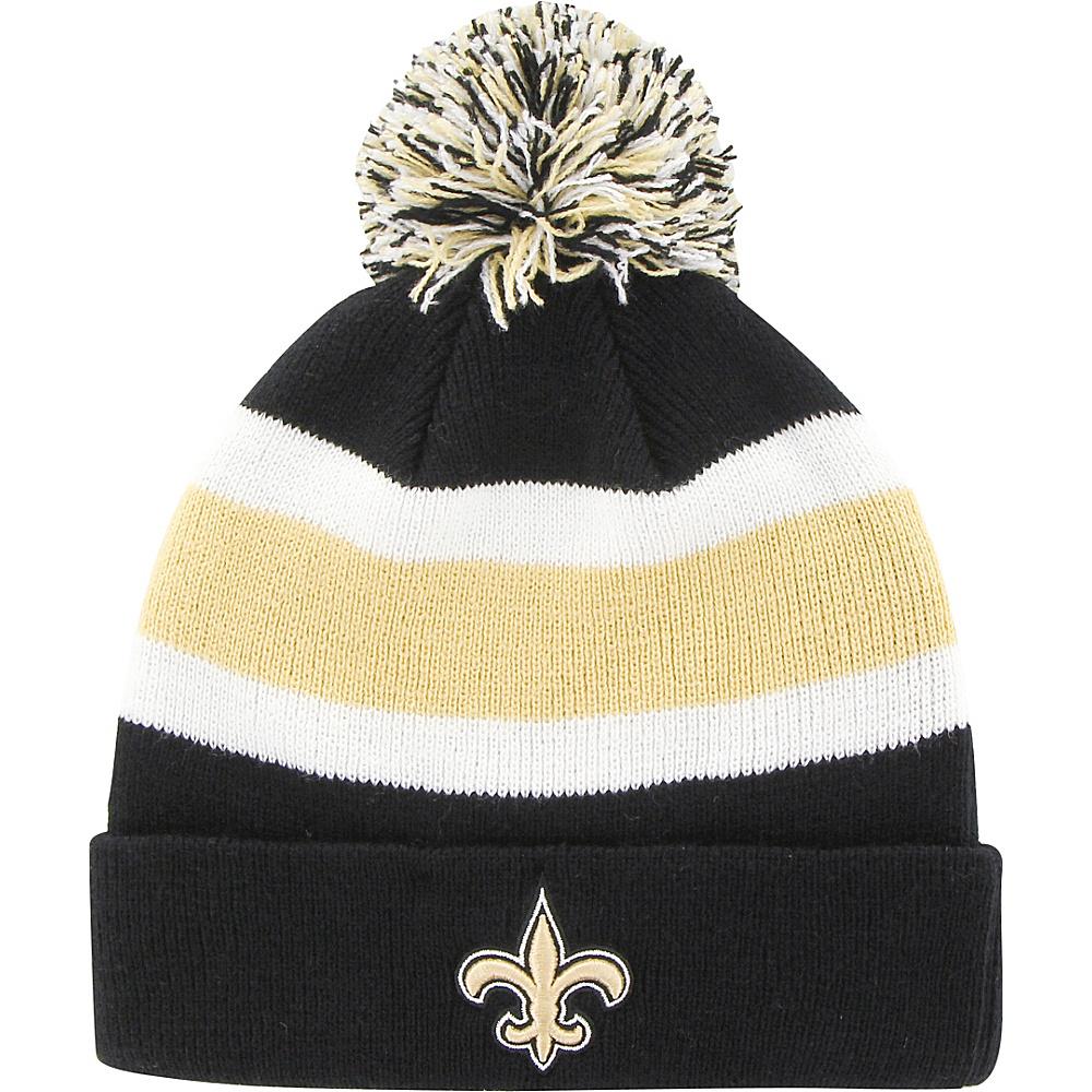 Fan Favorites Breakaway Beanie with Pom New Orleans Saints Fan Favorites Hats Gloves Scarves