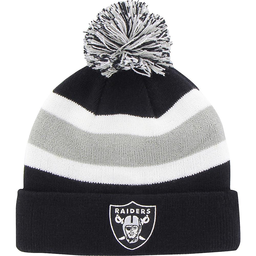 Fan Favorites Breakaway Beanie with Pom Oakland Raiders Fan Favorites Hats Gloves Scarves