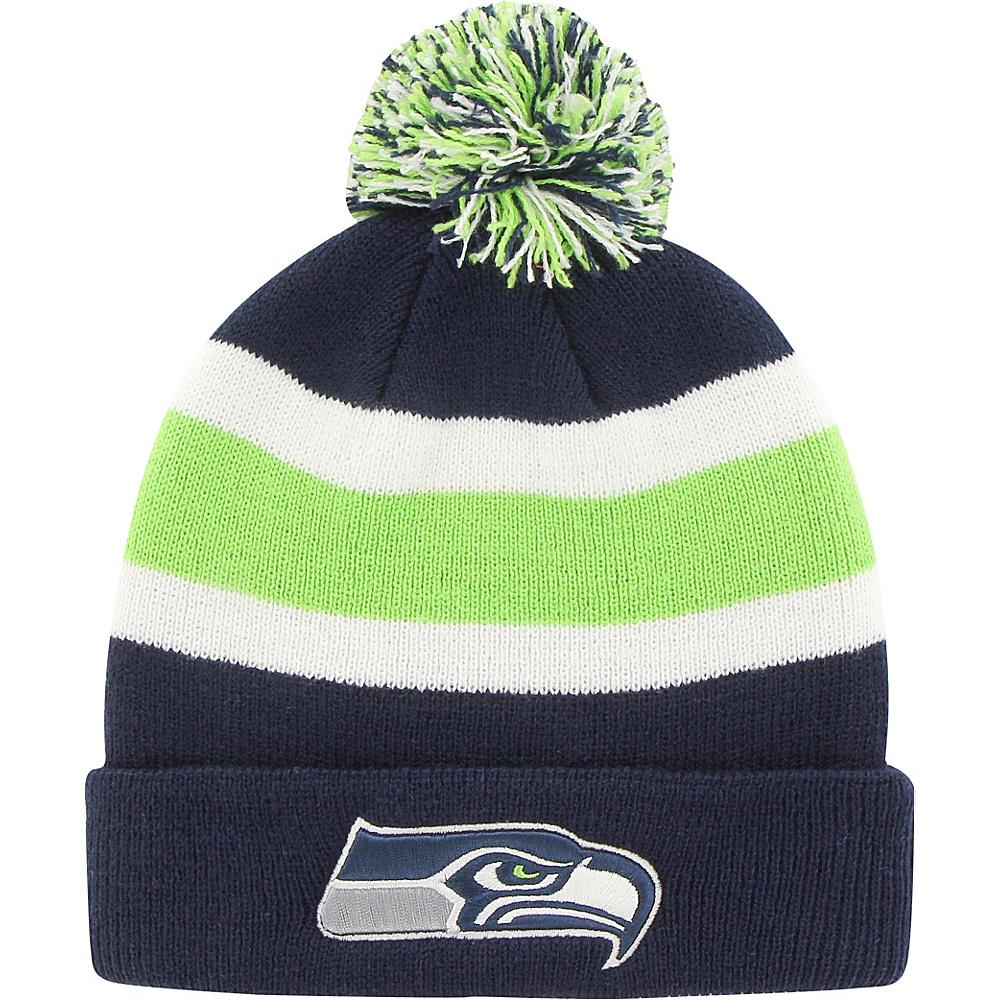 Fan Favorites Breakaway Beanie with Pom Seattle Seahawks Fan Favorites Hats Gloves Scarves