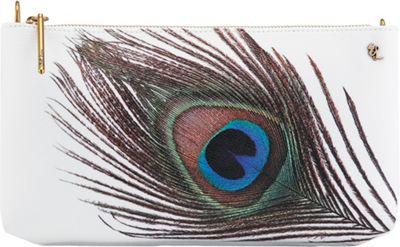 Elliott Lucca 3-Way Demi Clutch White Peacock - Elliott Lucca Designer Handbags