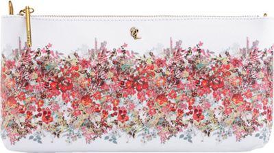 Elliott Lucca 3-Way Demi Clutch White Bouquet - Elliott Lucca Designer Handbags