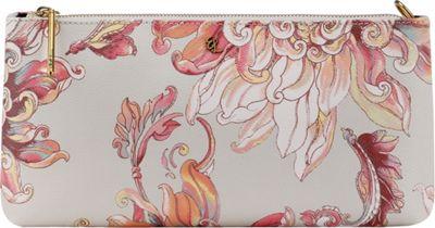 Elliott Lucca 3-Way Demi Clutch Peach Wildflower - Elliott Lucca Designer Handbags