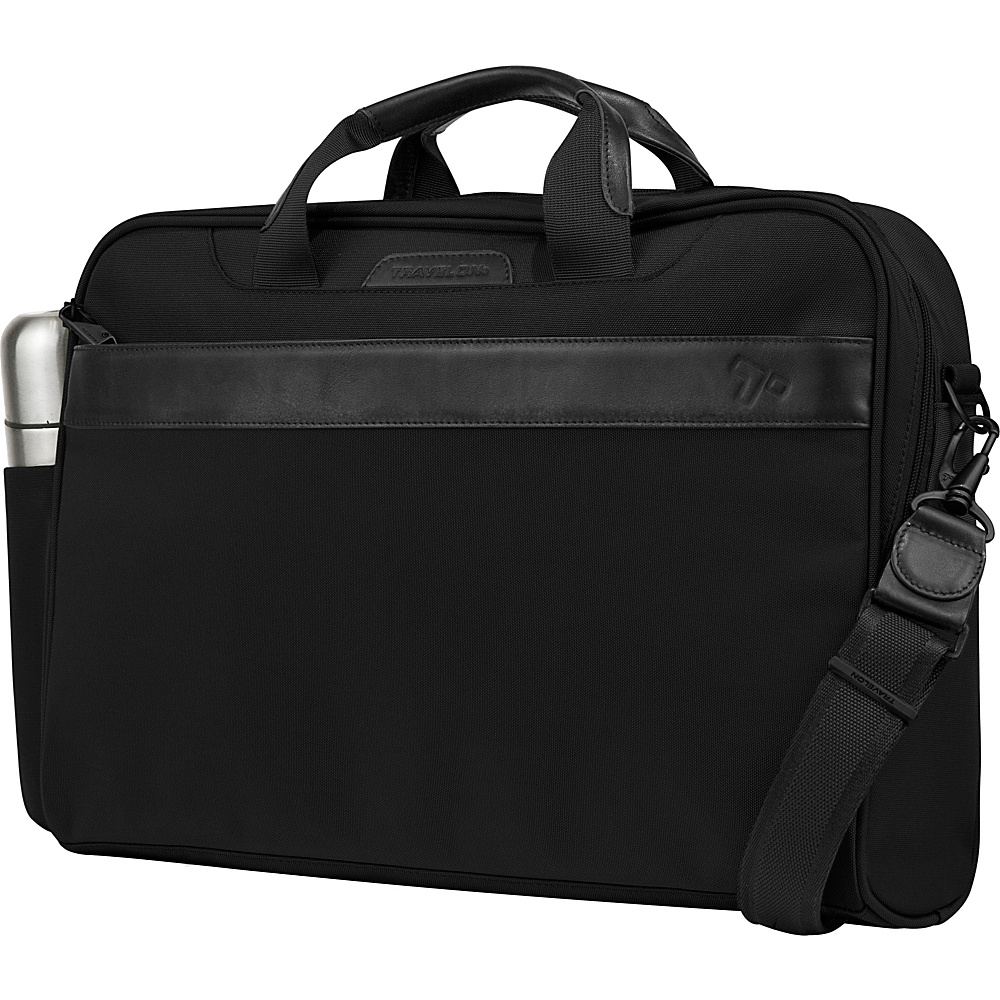 Travelon Anti-Theft Classic Plus Slim Briefcase Black - Travelon Non-Wheeled Business Cases - Work Bags & Briefcases, Non-Wheeled Business Cases