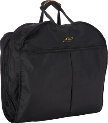 A. Saks Lightweight Ballistic Nylon Garment Cover Black/Black - A. Saks Garment Bags