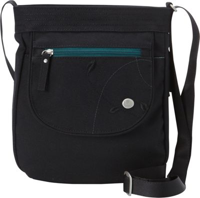 Haiku Jaunt Crossbody Black Juniper - Haiku Fabric Handbags
