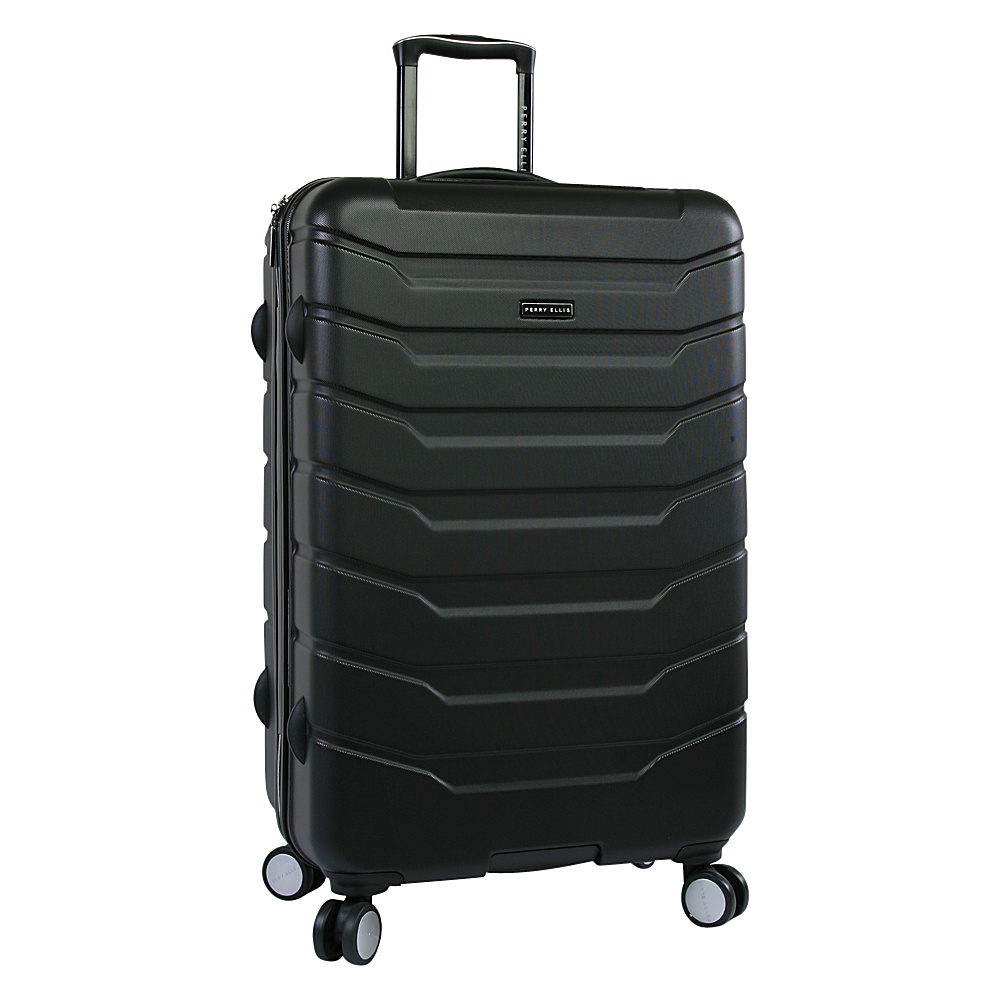"Perry Ellis Traction Hardside 29"" Spinner Luggage Black - Perry Ellis Hardside Checked"
