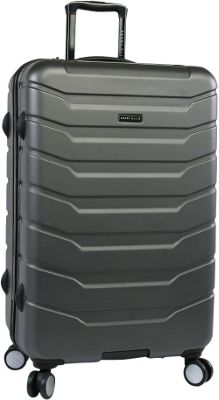 Perry Ellis Traction Hardside 29 inch Spinner Luggage Charcoal - Perry Ellis Hardside Checked