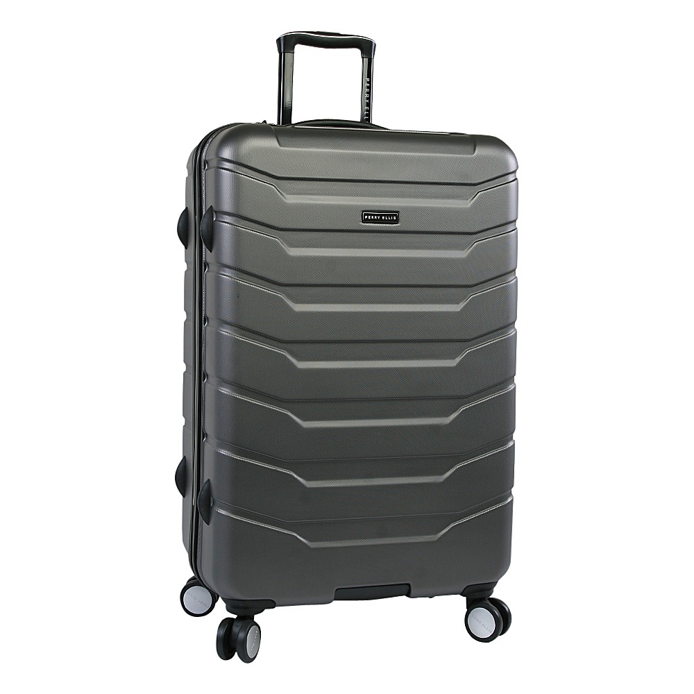 "Perry Ellis Traction Hardside 29"" Spinner Luggage Charcoal - Perry Ellis Hardside Checked"