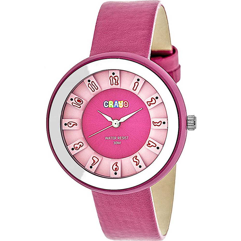 Crayo Celebration Strap Watch Pink Crayo Watches
