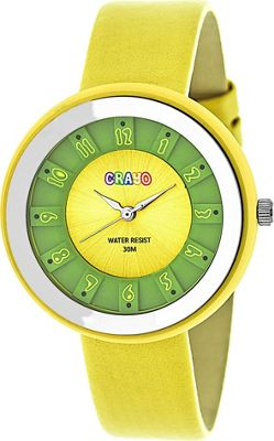 Crayo Celebration Strap Watch Yellow - Crayo Watches