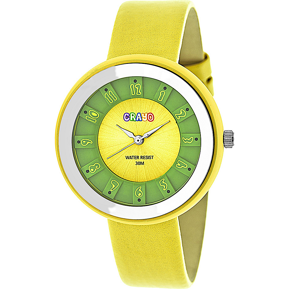 Crayo Celebration Strap Watch Yellow Crayo Watches