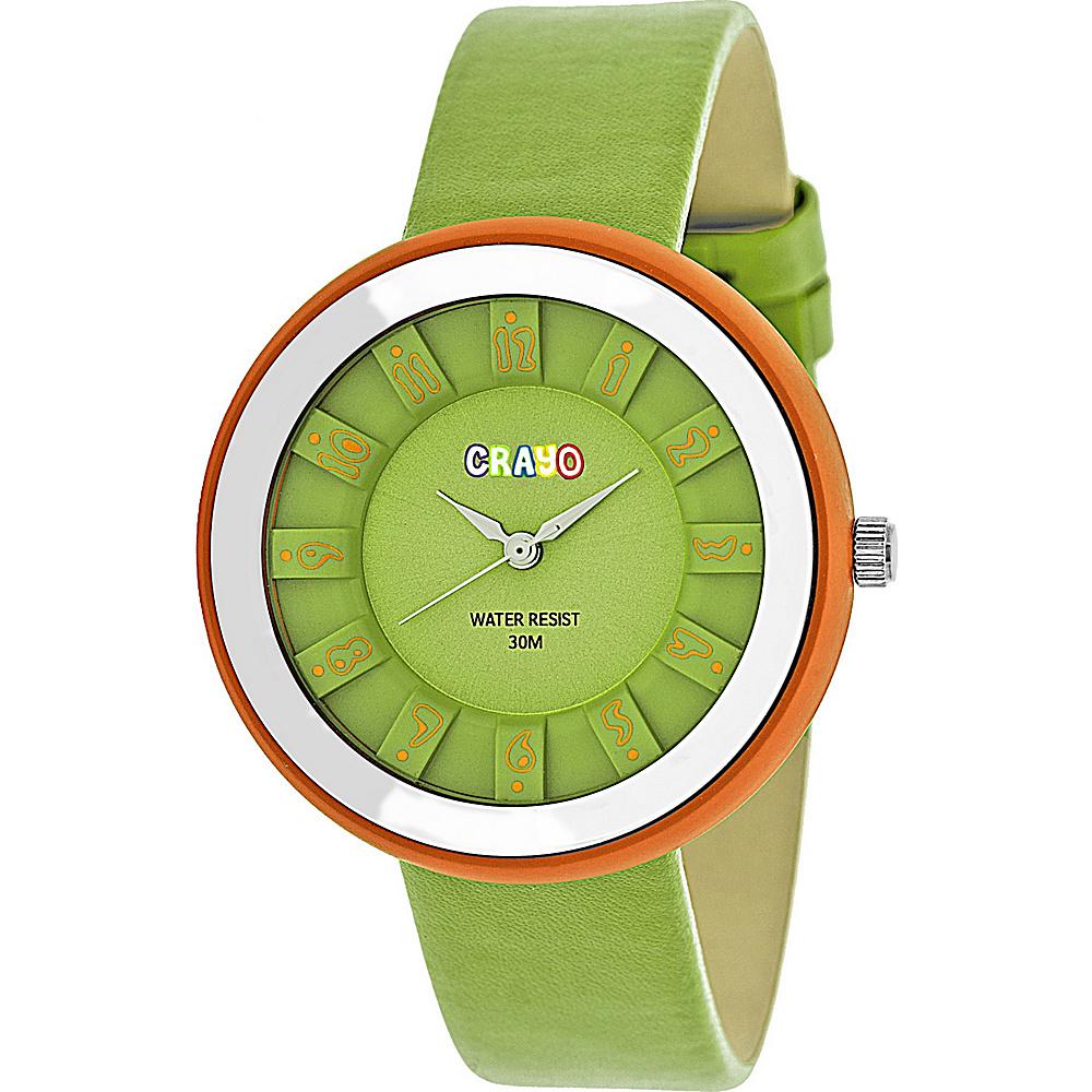 Crayo Celebration Strap Watch Green Crayo Watches