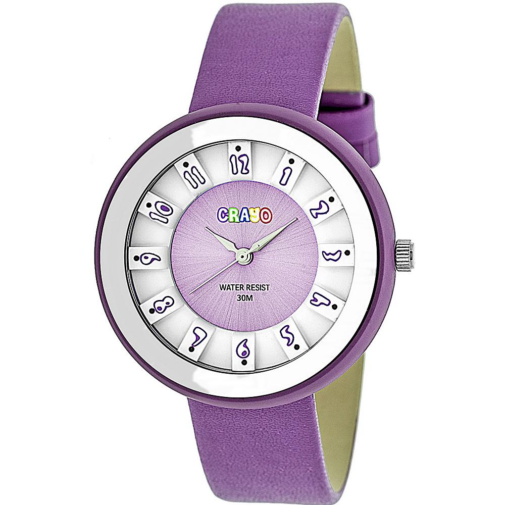 Crayo Celebration Strap Watch Lavender Crayo Watches