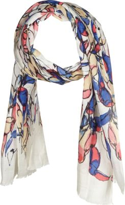 Kinross Cashmere Toucan Print Scarf Quince Multi - Kinross Cashmere Hats/Gloves/Scarves