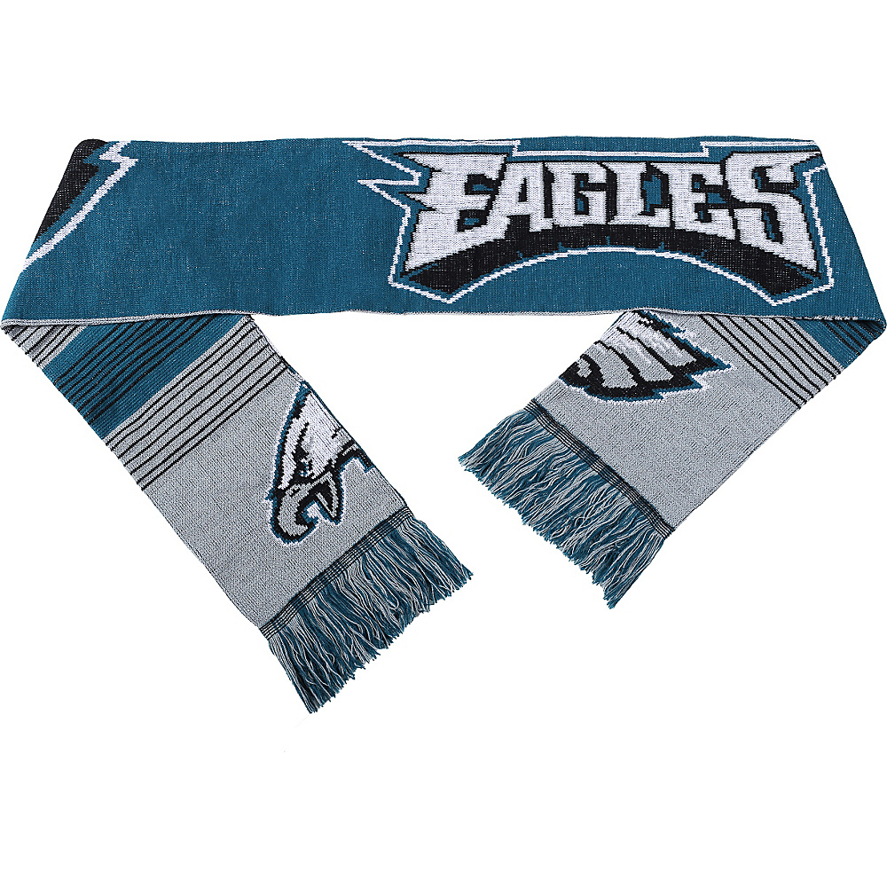 Forever Collectibles NFL Reversible Split Logo Scarf Green Philadelphia Eagles Forever Collectibles Hats Gloves Scarves