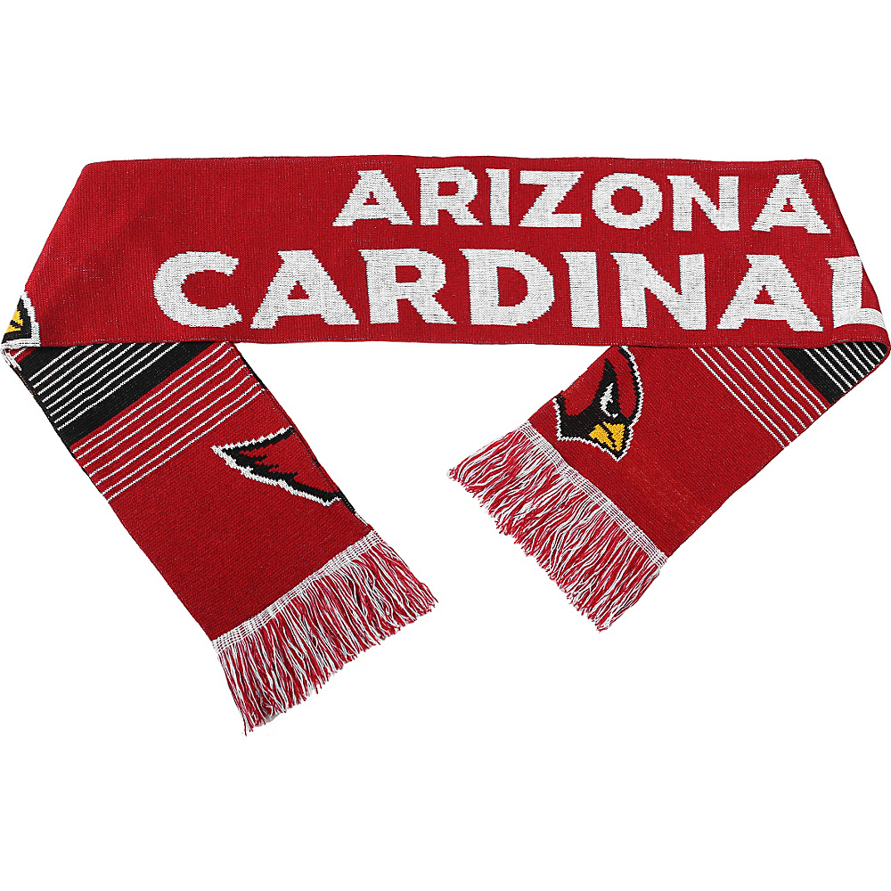 Forever Collectibles NFL Reversible Split Logo Scarf Red Arizona Cardinals Forever Collectibles Hats Gloves Scarves