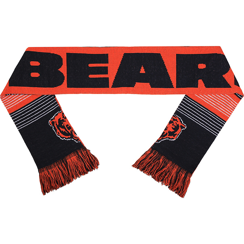 Forever Collectibles NFL Reversible Split Logo Scarf Orange Chicago Bears Forever Collectibles Hats Gloves Scarves