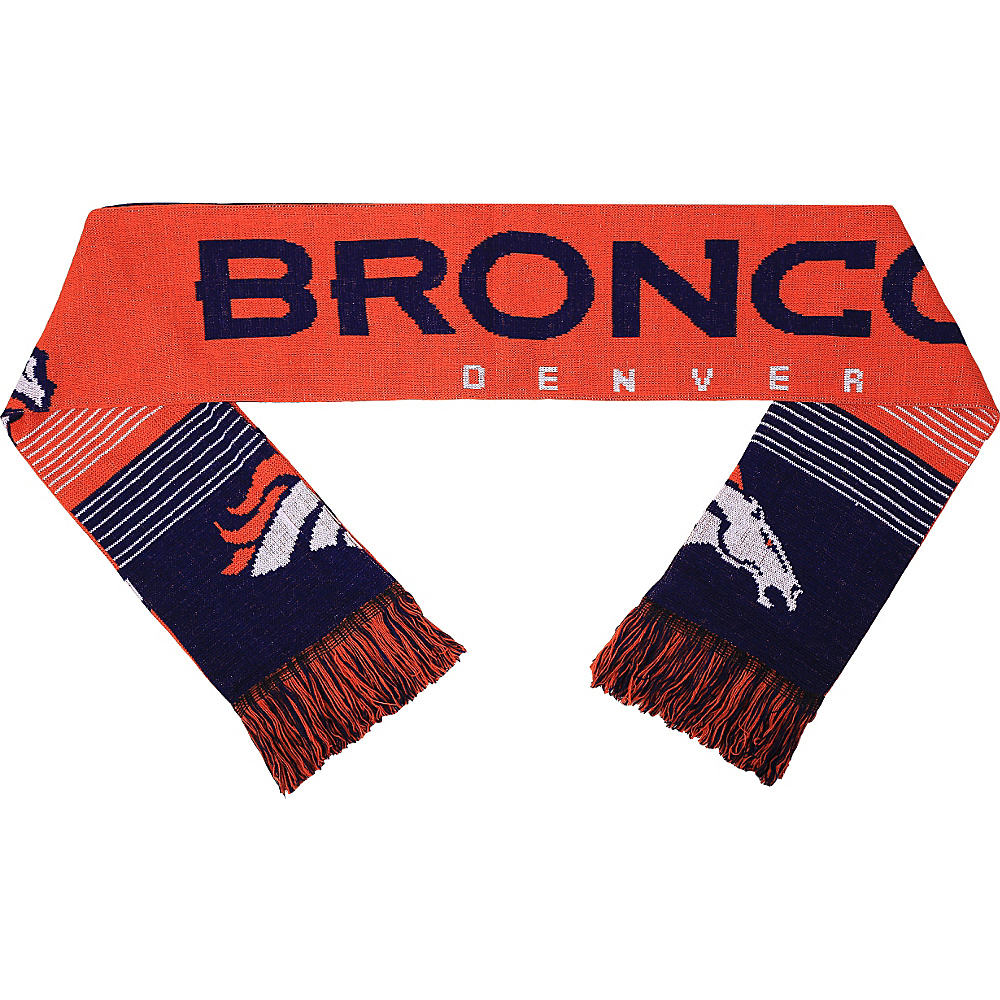 Forever Collectibles NFL Reversible Split Logo Scarf Blue Denver Broncos Forever Collectibles Hats Gloves Scarves