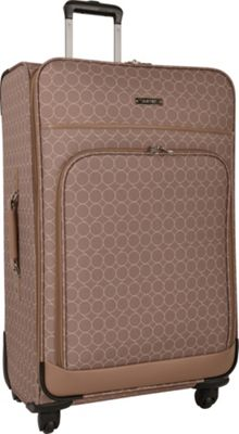 Nine West Luggage Allea 28 inch Expandable Spinner Taupe - Nine West Luggage Softside Checked
