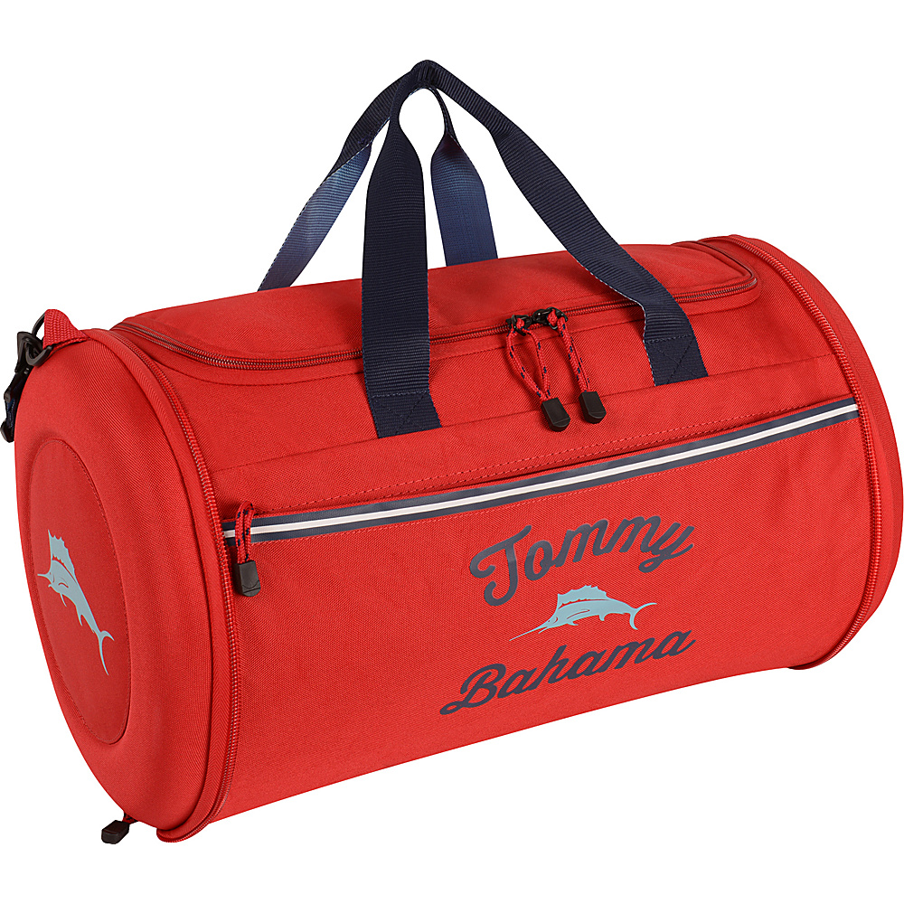 Tommy Bahama Tumbler 20 Clamshell Duffle Red Navy Light Blue Tommy Bahama Travel Duffels
