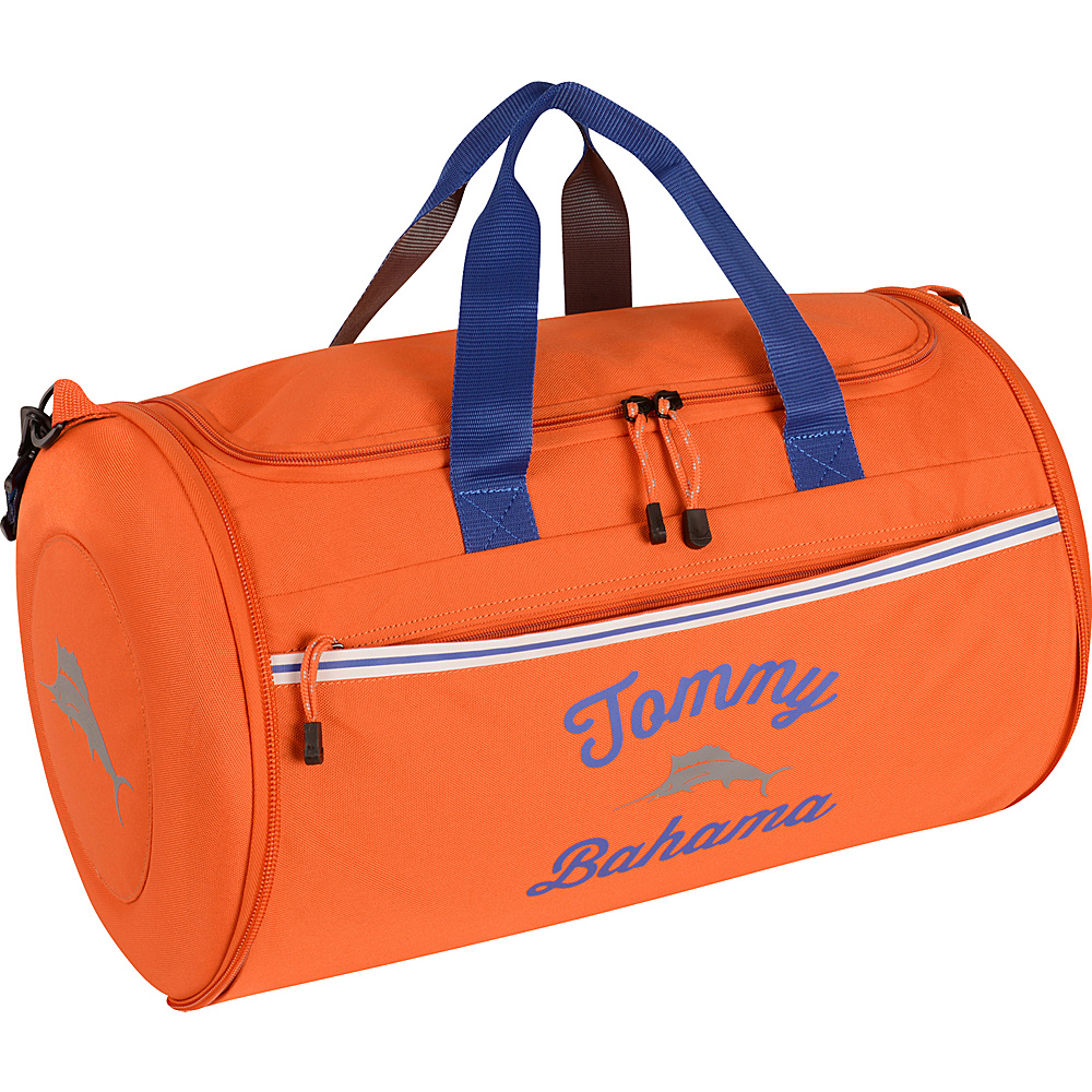 Tommy Bahama Tumbler 20 Clamshell Duffle Orange Grey Yellow Tommy Bahama Travel Duffels