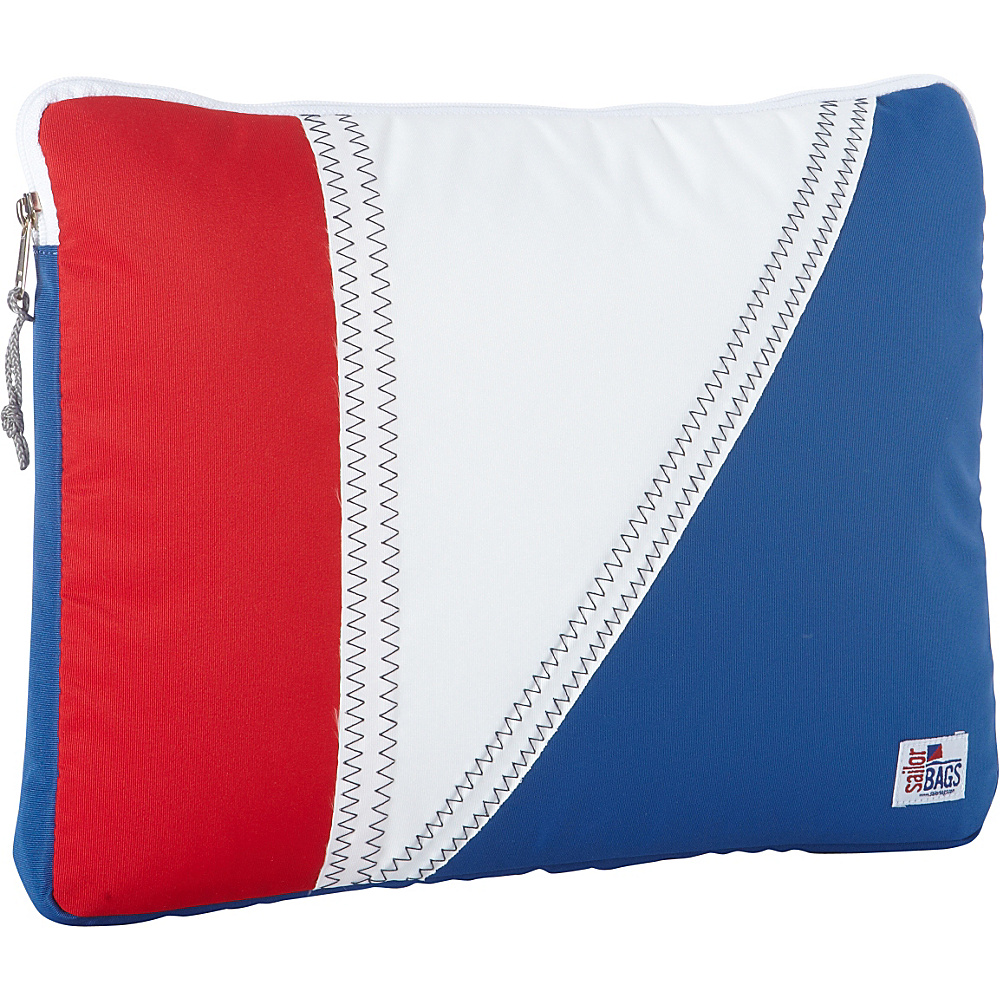 SailorBags Tri Sail Laptop Sleeve Red White and Blue with Grey Trim SailorBags Electronic Cases