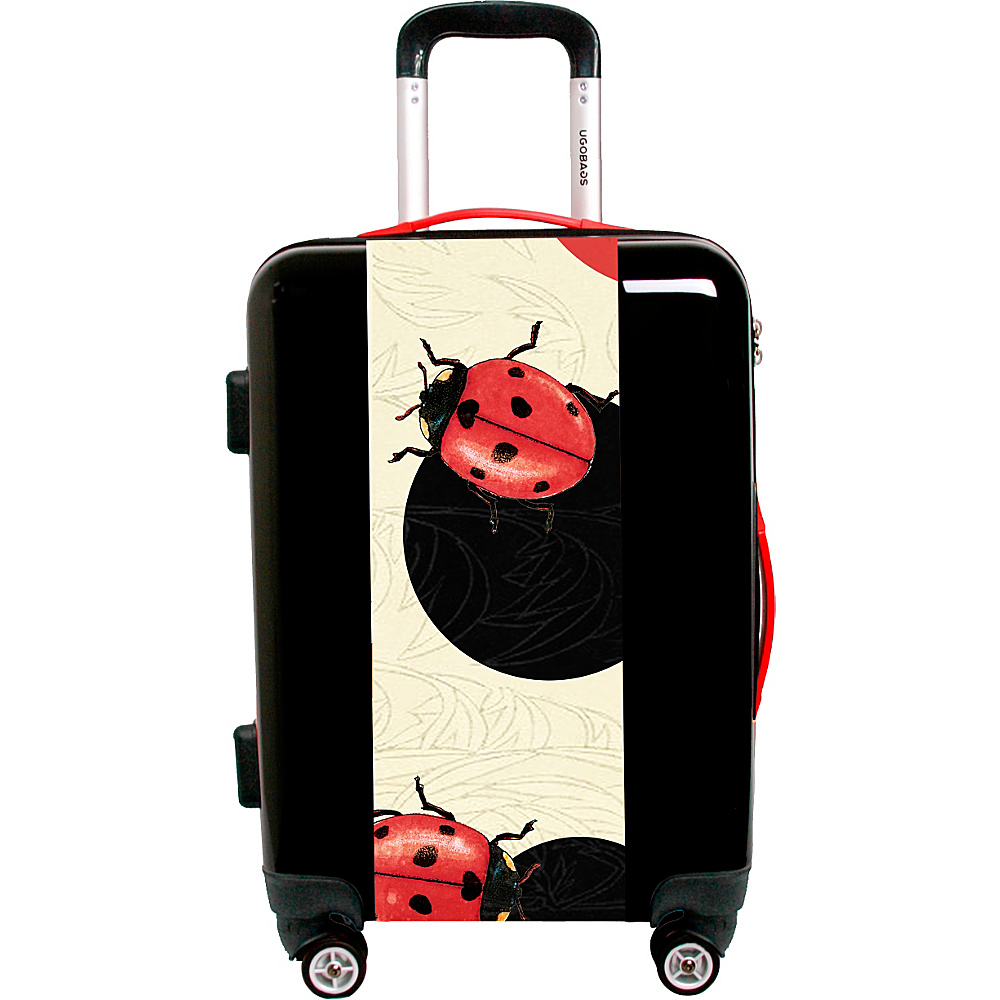 Ugo Bags Lady Bug Polka Dot By Paula Bella Flores 26.5 Luggage Black Ugo Bags Hardside Checked