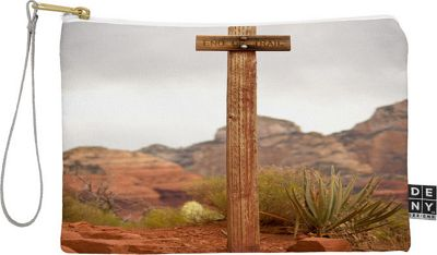 DENY Designs Barbara Sherman Pouch Trail Orange - End of Trail - DENY Designs Travel Wallets