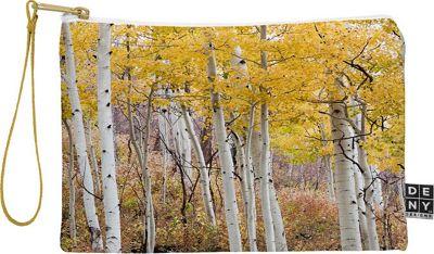 DENY Designs Barbara Sherman Pouch Aspen Yellow - Golden Aspens - DENY Designs Travel Wallets
