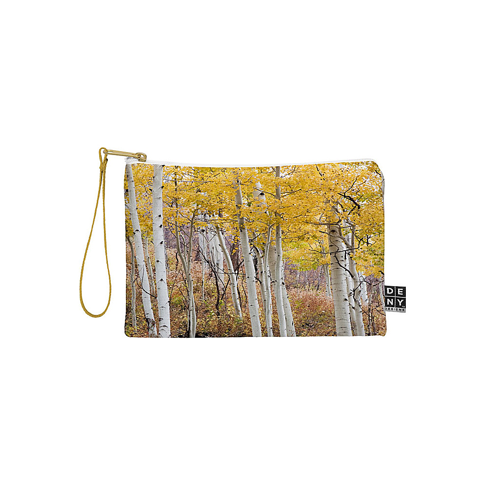 DENY Designs Barbara Sherman Pouch Aspen Yellow Golden Aspens DENY Designs Travel Wallets