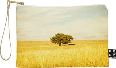 DENY Designs Barbara Sherman Pouch Golden Yellow - Solitary - DENY Designs Travel Wallets