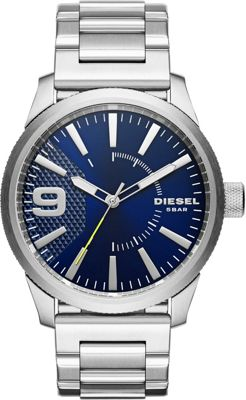 Diesel Watches Diesel Watches Rasp Stainless Steel Watch Silver - Diesel Watches Watches