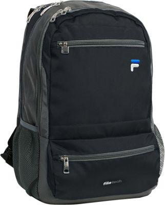 Fila Cypher Tablet and Laptop Backpack - 5 Pockets Black - Fila Everyday Backpacks