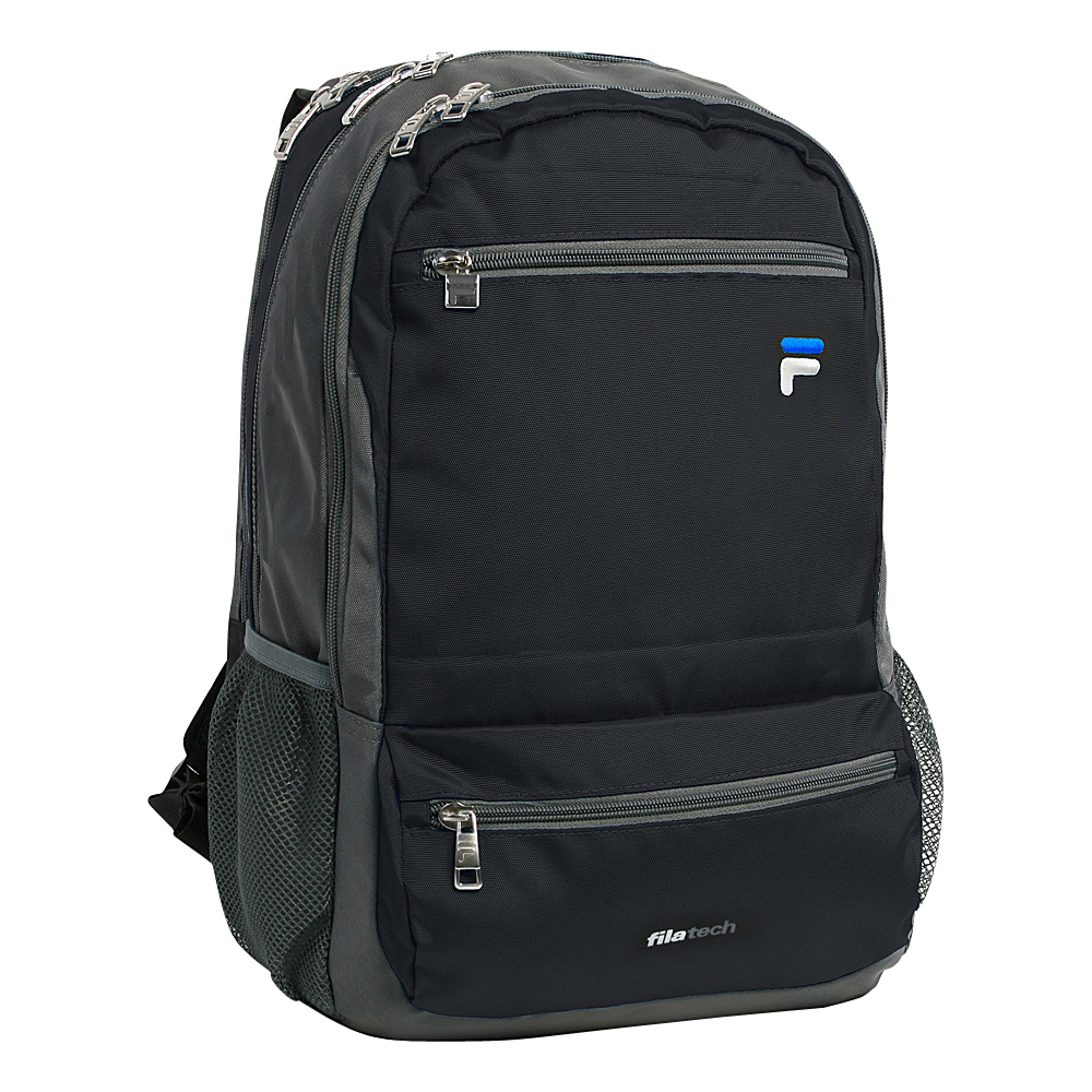 Fila Cypher Tablet and Laptop Backpack 5 Pockets Black Fila Everyday Backpacks